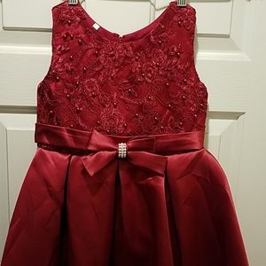 Burgandy party dress-NWOT